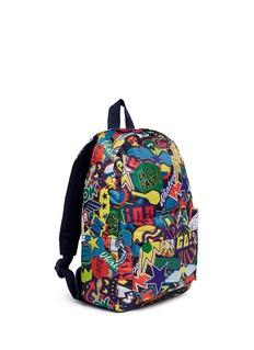 Stella Mccartney Kids'Bang' stickers print water repellent kids backpack