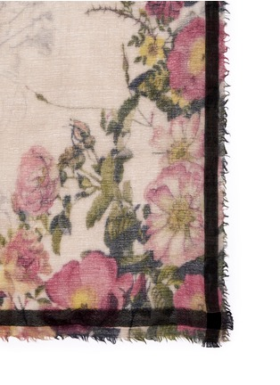 Detail View - Click To Enlarge - Faliero Sarti - Floral print wool-silk-cotton scarf