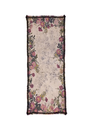 Main View - Click To Enlarge - Faliero Sarti - Floral print wool-silk-cotton scarf