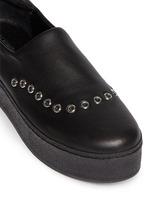 'Cici' eyelet leather flatform skate slip-ons