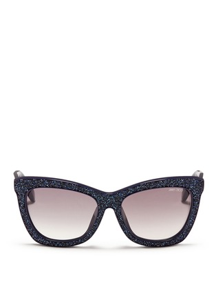 Main View - Click To Enlarge - Jimmy Choo - 'Flash' crystal frame acetate sunglasses