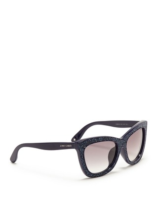 Figure View - Click To Enlarge - Jimmy Choo - 'Flash' crystal frame acetate sunglasses