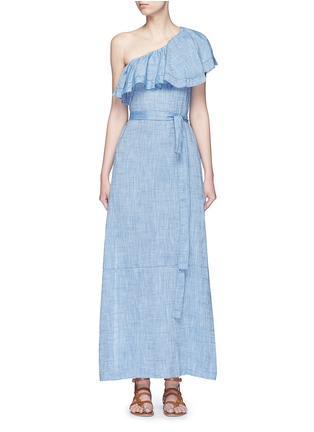 Main View - Click To Enlarge - Lisa Marie Fernandez - 'Arden' chambray flounce maxi dress