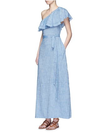 Figure View - Click To Enlarge - Lisa Marie Fernandez - 'Arden' chambray flounce maxi dress