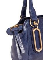 'Paige' mini textured leather crossbody bag