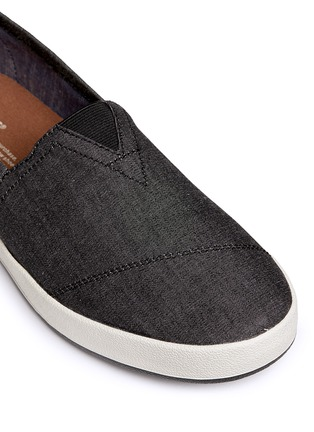 Detail View - Click To Enlarge - TOMS - 'Avalon' chambray slip-ons
