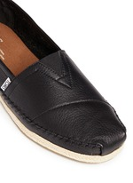 'Classic' leather espadrille slip-ons