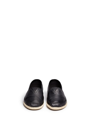 TOMS-'Classic' leather espadrille slip-ons