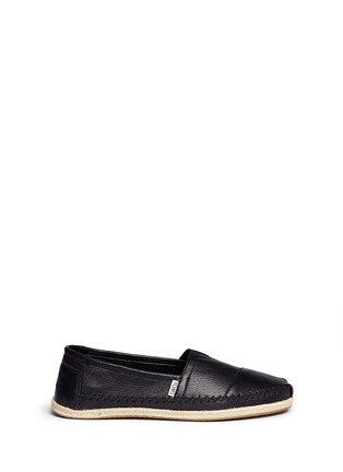 Main View - Click To Enlarge - TOMS - 'Classic' leather espadrille slip-ons