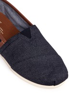 'Classic' leather trim denim slip-ons