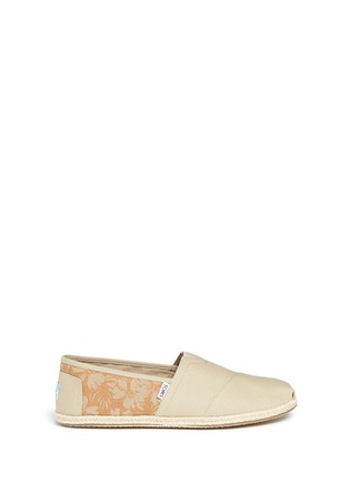 Main View - Click To Enlarge - TOMS - 'Classic' hibiscus print canvas espadrille slip-ons