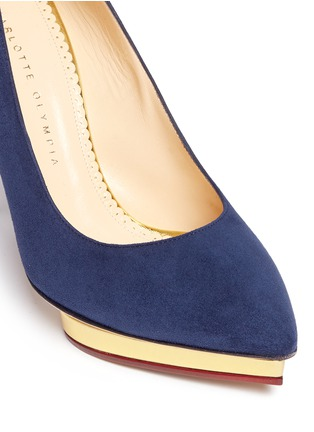 Detail View - Click To Enlarge - Charlotte Olympia - 'Debbie' platform suede pumps