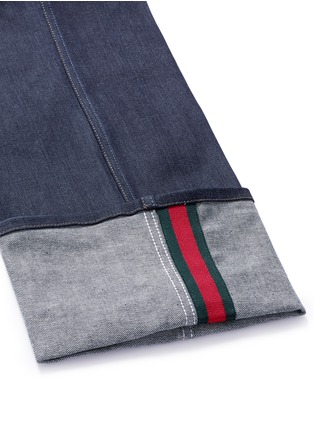 - Gucci - Rolled cuff wide leg jeans