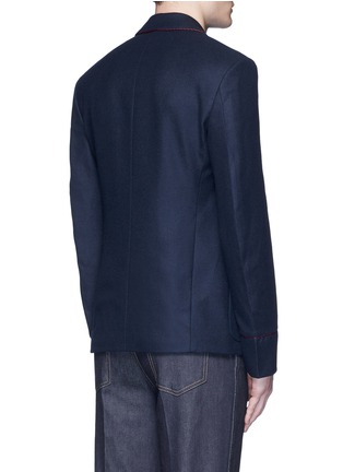 Back View - Click To Enlarge - Gucci - Bee embroidery cashmere pyjama blazer