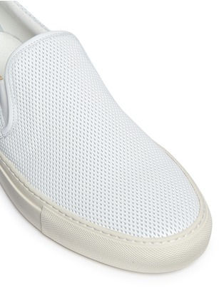 Detail View - Click To Enlarge - Common Projects - Perforated leather skate slip-ons