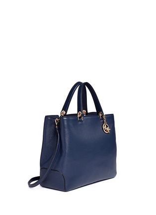 Front View - Click To Enlarge - Michael Kors - 'Anabelle' large leather top zip tote