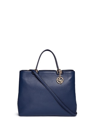 Main View - Click To Enlarge - Michael Kors - 'Anabelle' large leather top zip tote