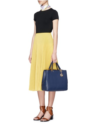 Figure View - Click To Enlarge - Michael Kors - 'Anabelle' large leather top zip tote