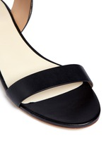 High collar leather sandals