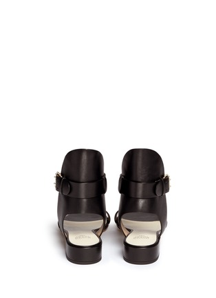Back View - Click To Enlarge - Francesco Russo - High collar leather sandals