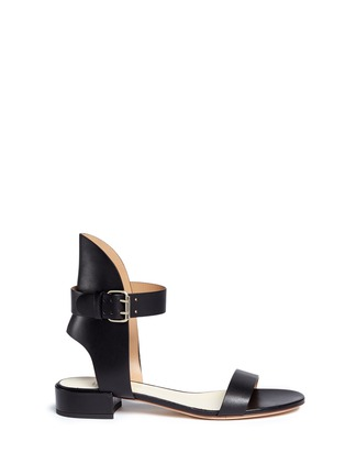 Main View - Click To Enlarge - Francesco Russo - High collar leather sandals