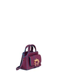 PAULA CADEMARTORI'Hay' small rubberised leather satchel