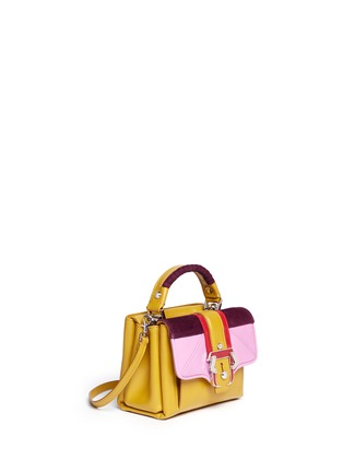 Front View - Click To Enlarge - PAULA CADEMARTORI - 'Dun Dun' mini colourblock leather satchel