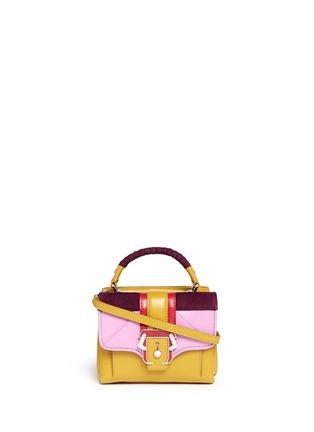 Main View - Click To Enlarge - PAULA CADEMARTORI - 'Dun Dun' mini colourblock leather satchel