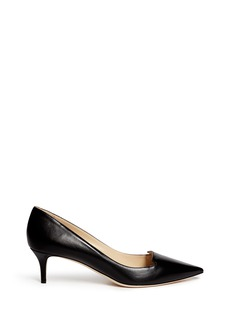 Jimmy Choo 'Allure' Venetian vamp leather pumps