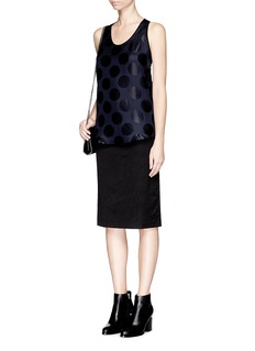 RAG & BONE 'Teddy' polka dot twill tank top