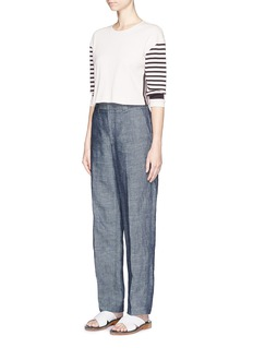 RAG & BONE 'Avila' Breton stripe sleeve jersey top
