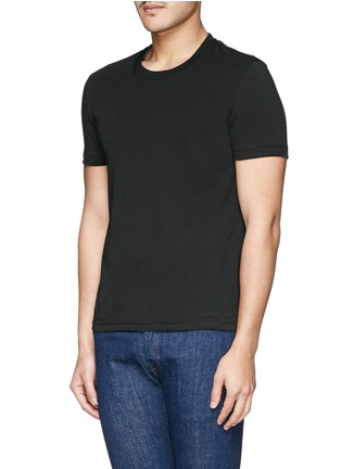 Front View - Click To Enlarge - Dolce & Gabbana - Crew neck jersey undershirt