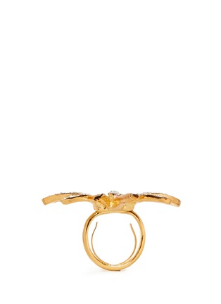 Detail View - Click To Enlarge - Kenneth Jay Lane - Crystal pavé strass dragon fly ring