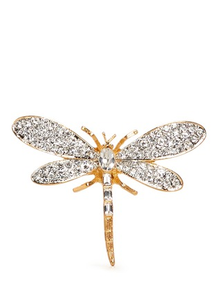 Main View - Click To Enlarge - Kenneth Jay Lane - Crystal pavé strass dragon fly ring