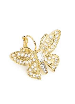 Detail View - Click To Enlarge - Kenneth Jay Lane - Crystal pavé butterfly drop earrings