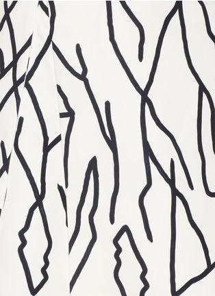 Detail View - Click To Enlarge - Ellery - 'Olympia' vine print crepe skirt