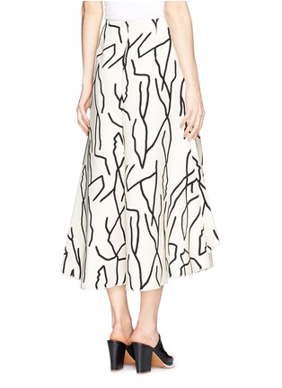 Back View - Click To Enlarge - Ellery - 'Olympia' vine print crepe skirt