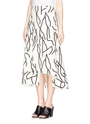 Front View - Click To Enlarge - Ellery - 'Olympia' vine print crepe skirt