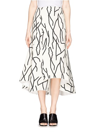 Main View - Click To Enlarge - Ellery - 'Olympia' vine print crepe skirt