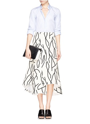 Figure View - Click To Enlarge - Ellery - 'Olympia' vine print crepe skirt