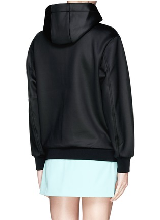 Back View - Click To Enlarge - T By Alexander Wang - Bonded scuba jersey hoodie