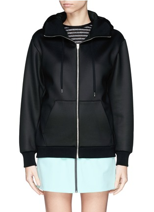 Main View - Click To Enlarge - T By Alexander Wang - Bonded scuba jersey hoodie