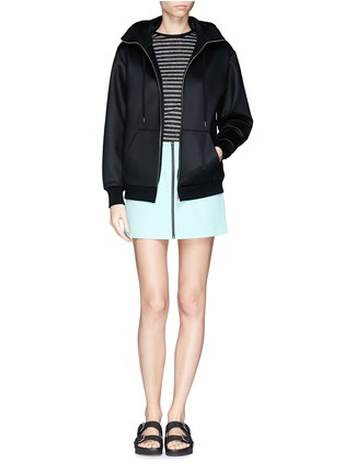Figure View - Click To Enlarge - T By Alexander Wang - Bonded scuba jersey hoodie