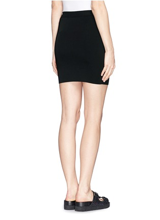 Back View - Click To Enlarge - T By Alexander Wang - Stretch slim fit pencil skirt