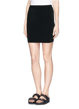 Front View - Click To Enlarge - T By Alexander Wang - Stretch slim fit pencil skirt