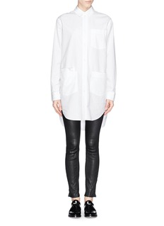 T BY ALEXANDER WANG'Ripstop' cotton poplin shirt dress