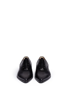 LANVIN Screw rivet leather slip-on Oxfords