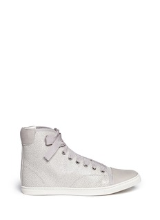 LANVIN Shagreen leather sneakers