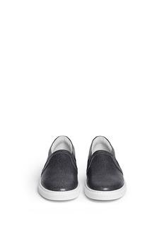 LANVINShagreen leather skate slip-ons