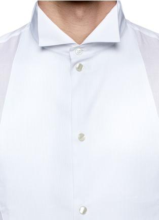 Detail View - Click To Enlarge - Armani Collezioni - Pinwale bib tuxedo shirt
